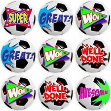 144 Football Praise Words 30 mm Reward Stickers for School Teachers, Parents