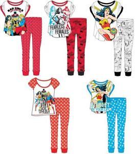Ladies Wonder Woman Pyjamas Superhero Nightwear PJ Sets Size 8-22 FREE P&P