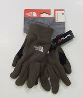 New with tag NWT Mens The North Face Coffee Brown Opto Fleece Polartec Gloves M