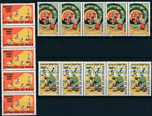 [P16188] Niger 1976 : 5x Good Set Very Fine MNH Stamps in Strips
