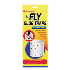 Fly Glue Traps 4 Sheets Non Toxic For indoors Outdoors Insect Catcher