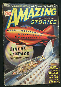 AMAZING STORIES PULP MAG DECEMBER 1939 VG MANLY WADE WELLMAN