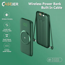 CASEIER 10000mAh Wireless & Cable with LED Display Portable Charger(Power Bank)