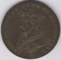 18th Century John Of Gaunt Duke Of Lancaster Halfpenny Token | Pennies2Pounds