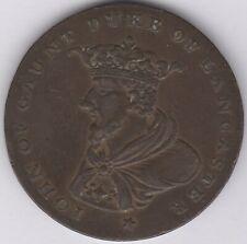 More details for 18th century john of gaunt duke of lancaster halfpenny token   pennies2pounds