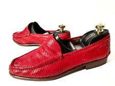 Brioni Red Python Leather Shoes Size 43-44, UK-9-10, US-10-11