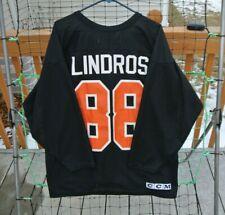 05c79b1fe9e Vintage Eric Lindros  88 Philadelphia Flyers NHL CCM Jersey Shirt Size Large
