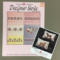 Lot of 2 Prairie Schooler Cross Stitch Charts Goat & Sheep and Pastel Borders