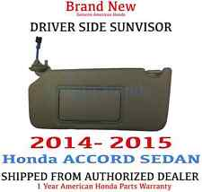 2014- 2015 Honda ACCORD SEDAN Driver Side Sunvisor Genuine OEM *CASHIMERE IVORY*