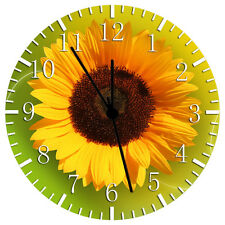 """Sun Flower Wall Clock 10"""" will be nice Gift and Room wall Decor W145"""