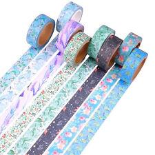 8 Pcs Decorative Japanese Washi Masking Adhesive Scrapbooking Tape Journals DIY