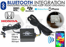 Honda Jazz Adattatore di streaming BLUETOOTH VIVAVOCE CHIAMATE ctahobt 001 AUX MP3 iPhone