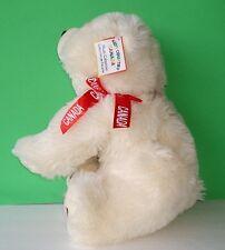 "Adorable Kids Country Canada Plush Stuffed Teddy Cream Polar Bear w/ Tags 17"""