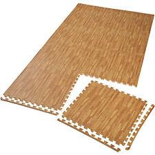 8er Set Schutzmatte Bodenmatte Unterlegmatte Fitness Gymnastik Puzzle Holzoptik