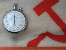 VINTAGE RUSSIAN Agat USSR POCKET MECHANICAL CHRONOMETER STOP WATCH Wrking