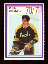 1970-71 ESSO POWER PLAYERS NHL #21 RON STACKHOUSE EX-NM GOLDEN SEALS UNUSD STAMP