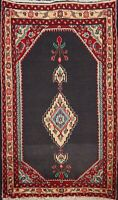 Vintage Geometric Ardakan Hand-knotted Area Rug Wool Oriental Foyer Carpet 2'x3'