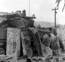 WW2 Photo WWII USMC M4 Sherman Tank PTO US Marines Pacific  World War Two/ 3133