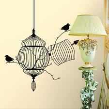 Black Birdcage Bird Removable Wall Sticker Home Decor Room Decal Art Vinyl Mural