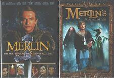 MERLIN 1 & 2: The Mini Series+ Apprentice- The Sam Neill Versions- NEW 2 DVD