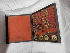 antique Archer oil salesmen sample display case aircraft outboard motor samples