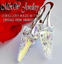 925 STERLING SILVER EARRINGS *SPIKE* CRYSTAL AB 18MM CRYSTALS FROM SWAROVSKI®