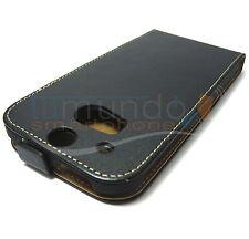 FUNDA de PIEL PREMIUM NEGRA ULTRA-SLIM para HTC ONE 2 M8 en ESPAÑA
