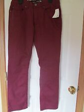 NWT Men's JEANS BY BUFFALO, SUPER SLIM , Size W:31 L:32, Vino Maroon, Ethan