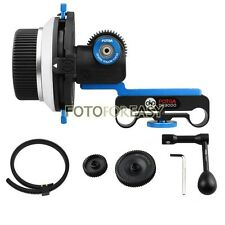 FOTGA DP3000 Follow Focus A/B Stops for 15mm Rod DSLR Rig 5D2 +Speed Crank +Gear