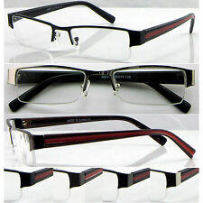 L415 High Quality Men's Semi-Rimless Reading Glasses/Point Red Paint Black Arms*