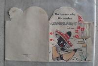 Vintage 1936 Hallmark Valentine's Day Card with Black Boy and Girl