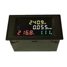 80-300V AC LCD Digital Power KWh Watt Meter Volt Amp Voltmeter Ammeter CT