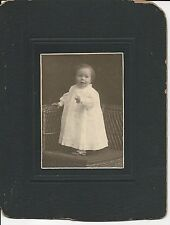 Antique African American Sweet Baby Girl Cabinet Card Photo Black Americana