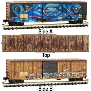 Micro-Trains MTL Z-Scale 50ft Box Year in Railbox 2020 #1 Sci-Fi Graffiti #37227