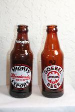 Lot of 2 Vintage Amber Beer Ale Bottles Goebel Beer Shorty Export 7 oz