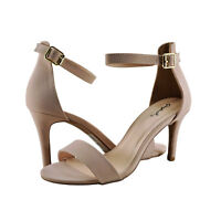 Women's Shoes Qupid Cullen 12 Traditional Ankle Strap Heel NUDE *New*