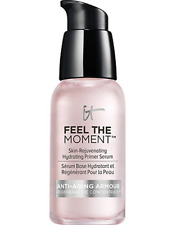 IT Cosmetics FEEL THE MOMENT Skin-Rejuvenating Hydrating Primer Serum, 1.0 oz