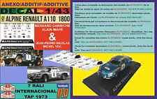 ANEXO DECAL 1/43 ALPINE A 110 1800 J-P NICOLAS & B.DARNICHE TAP 1973 (02)