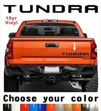 TOYOTA TUNDRA Tailgate Vinyl Decal Letters Insert  2014-2020 10yr Warranty