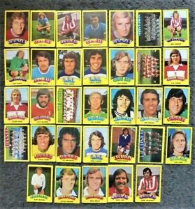 Lot of 30+ A&BC Footballer Cards 1974/75 Red Backs - Very Poor Condition