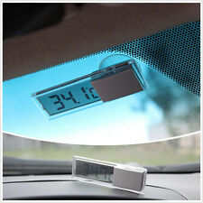 Practical Sucker liquid crystal Car Interior Removable LCD Digital thermometer
