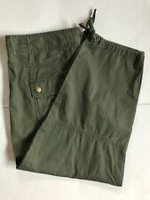 Womens Calvin Klein Jeans Olive Green Cotton Cargo Ankle Pants 6