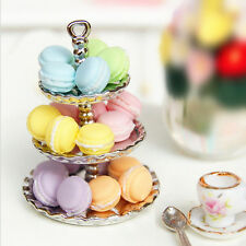 1pcs Random Dollhouse Miniature Food Dessert  Snack French Macaron 1:12 Scale