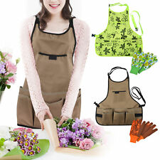 More details for outdoor garden aprons tool carrier pockets heavy duty protective and free golves