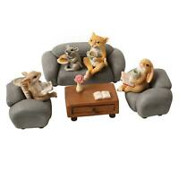 Art & Artifact Rabbit and Friends Set - 8 Piece Animal Book Club Figurines