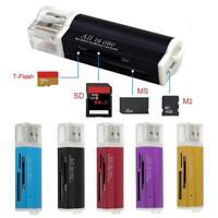 4-Slot Micro USB 2.0 Memory Card Reader Adapter For Micro  SDHC TF M2 MMC MS