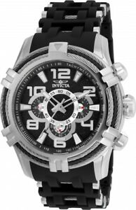 wachawant: Invicta 25553 Bolt 51mm Quartz Stainless Steel Black Dial Men's Watch