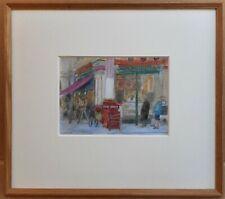 Leadenhall Market, London. Gouache by listed artist Audrey Lanceman circa 1980