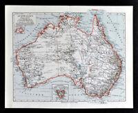1900 Meyers Map Australia Sydney Melbourne Perth Brisbane Adelaide Tasmanian