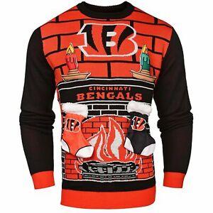 NFL Cincinnati Bengals 3D Mens Ugly Christmas Sweater - Medium